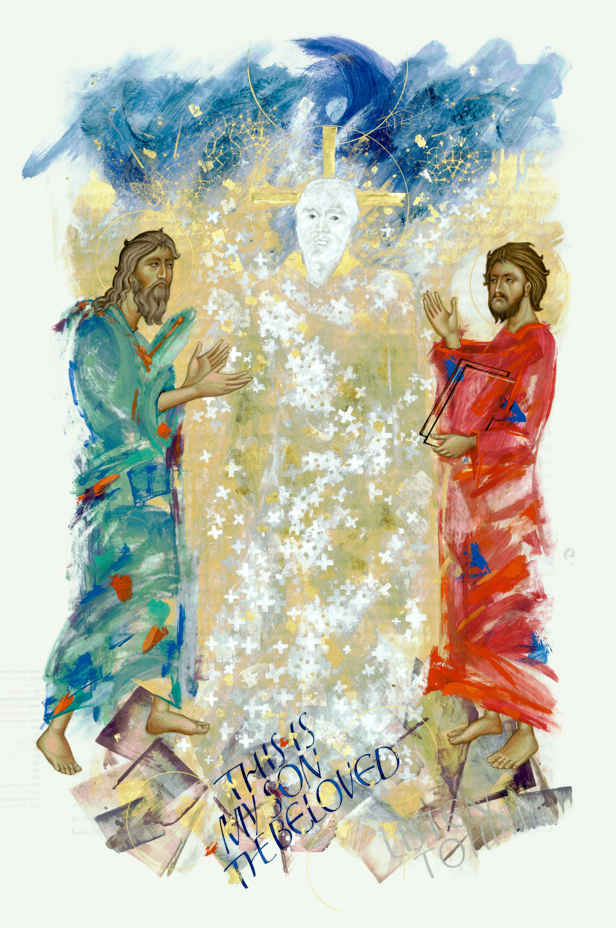 The Transfiguration, Donald Jackson in collaboration with Aidan Hart, 2002. The Saint John's Bible, Order of Saint Benedict, Collegeville, Minnesota USA. Used by permission. All rights reserved.